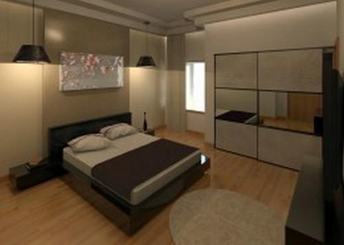 עיצוב חדר שינה בפנטהאוז