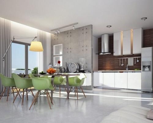 עיצוב מטבח בדירת פנטהאוז