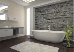 עיצוב חדר אמבטיה עם חיפוי אבנים