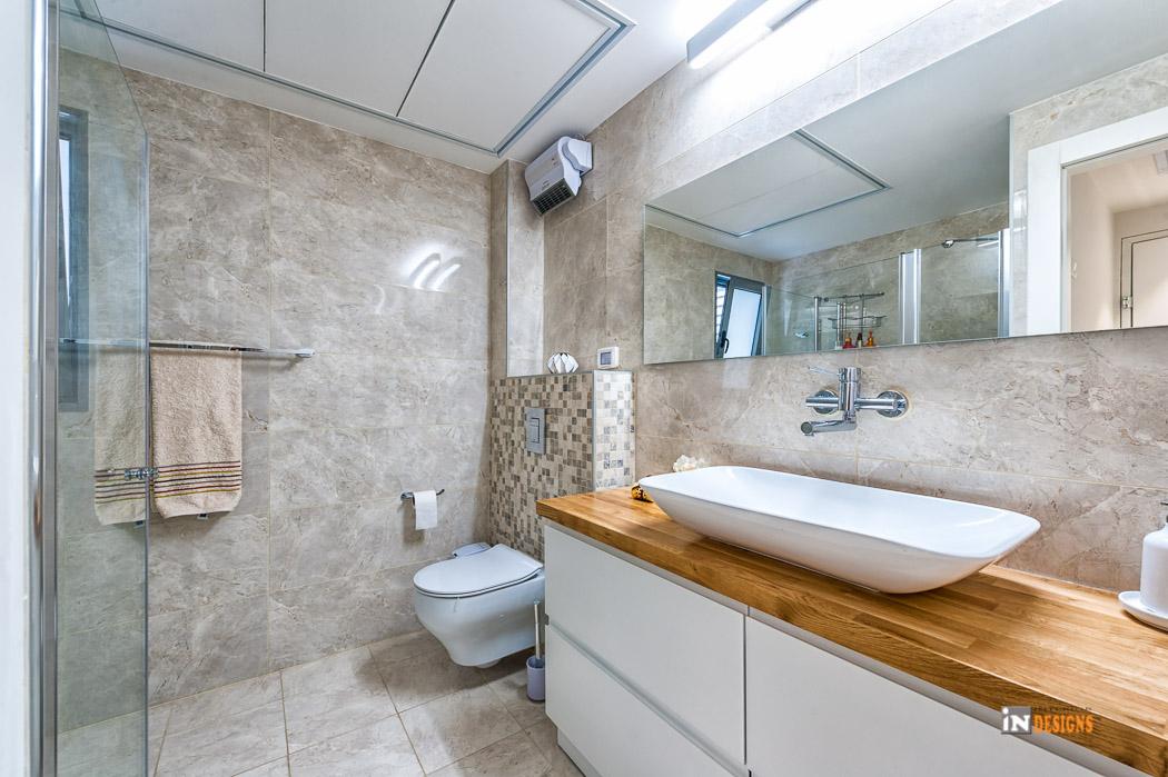 תכנון חלל מקלחת לדירה חדשה בעיצוב מודרני